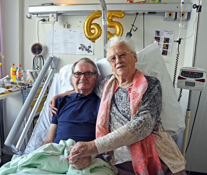 Andries Brasser en Jo Houdersteijn zijn 65-jaar getrouwd.