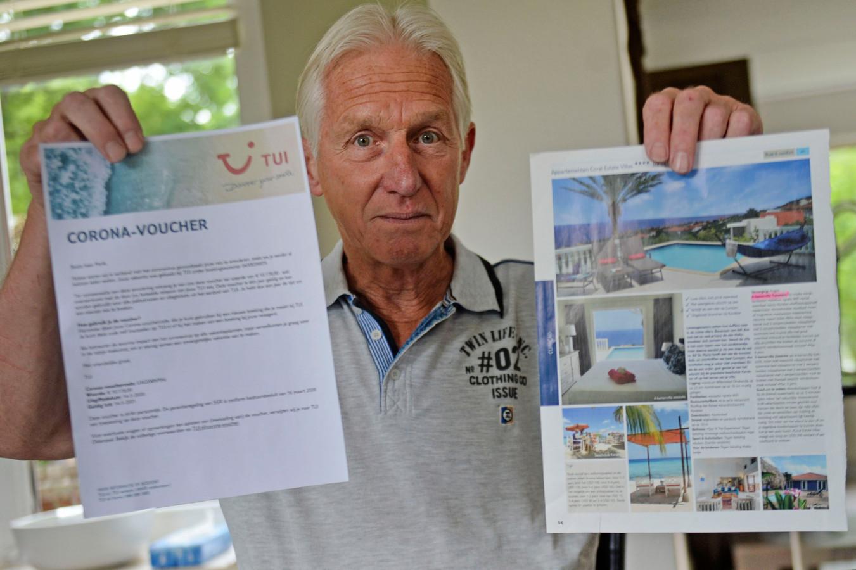 Cor Perik (70) uit Oldenzaal zou met zijn hele gezin op reis gaan naar Curaçao maar dat ging door corona niet door. Pogingen om zijn geld terug te krijgen strandden.