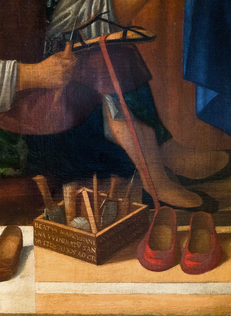 De genezing van Anianus door de heilige Marcus in Venetië, begin 16de eeuw. Beeld Galleria dell Academia in Venetië. San Marco risana Aniano, Giovanni Mansueti.