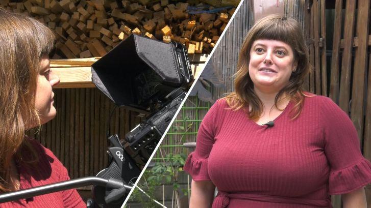 Sanne maakte een natuurfilm in haar eigen achtertuin