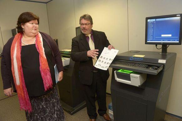 De werking van de scanners werd gedemonstreerd.