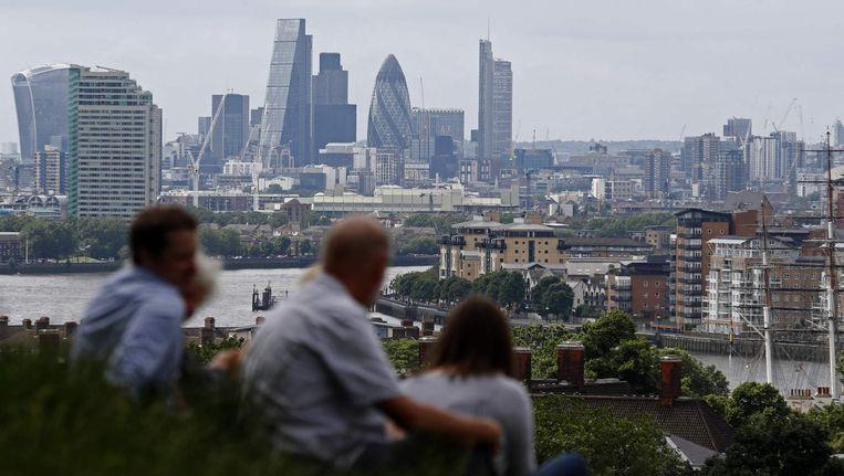 The City, het economische hart van Londen. Beeld afp