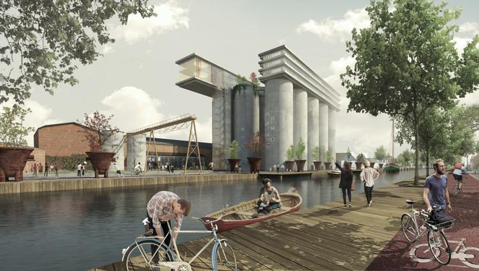 Hotel op de silo's aan de Noordkade in Veghel. Bron: de Architekten Cie., architecten: Pi de Bruijn en Wessel Vreugdenhil, www.cie.nl