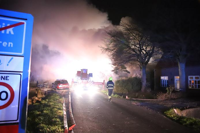 De brand in Maurik.