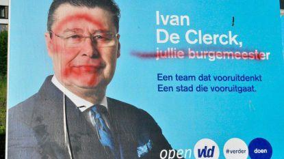 Vandalen viseren verkiezingsborden Ivan De Clerck (Open Vld)