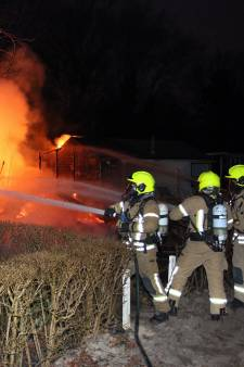 Schade aan vier vakantiehuisjes na brand op Kruininger Gors