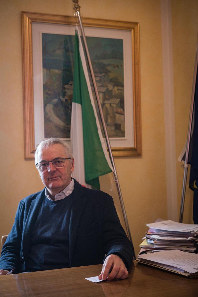 Lucio Campedelli, burgemeester van de gemeente Erbezzo. Beeld Zolin Nicola