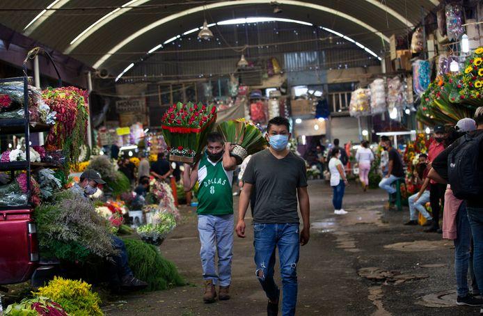 Een markt in Mexico-Stad