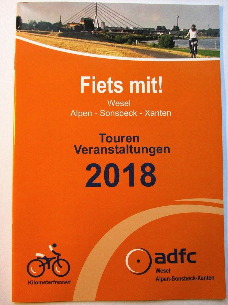 Het foldertje dat Hans Huijboom in Duitsland zag. Beeld