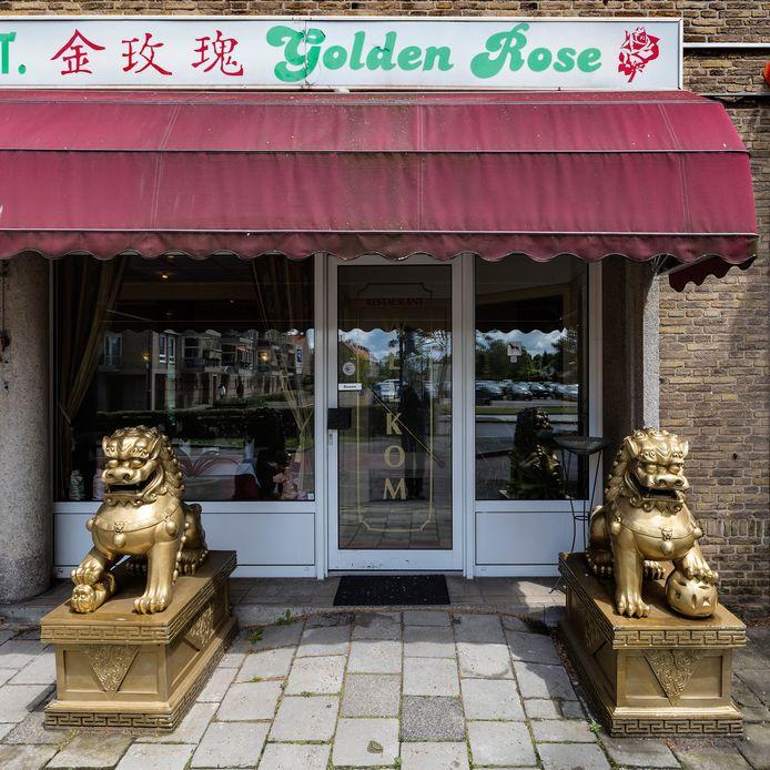Chinees restaurant Golden Rose op de hoek Pettelaarseweg-Zuiderpark was doelwit van een inbraak.