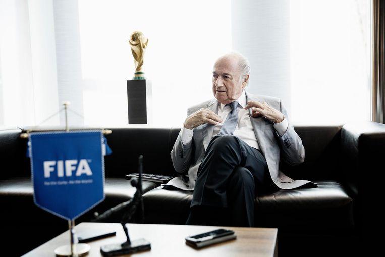 Sepp Blatter. Beeld Daniel Rosenthal.