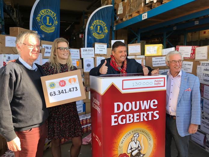 René Froger, ambassadeur van Voedselbanken Nederland, is in zijn nopjes met de opbrengst van de Lions waardepuntenactie.