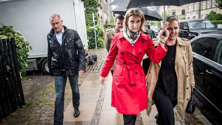 De Deense premier Helle Thorning-Schmidt (midden).