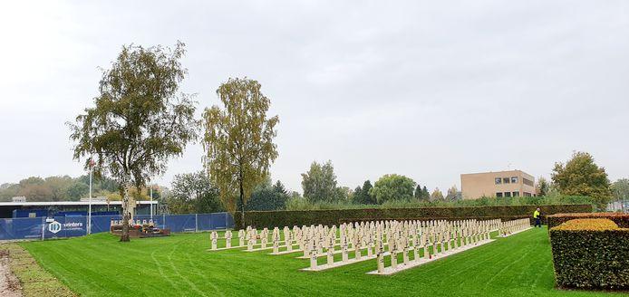 Het Pools Militair Ereveld aan de Ettensebaan, waar komende dinsdag het bezoek van koning Willem-Alexander en president Duda van Polen aan Breda van start gaat.