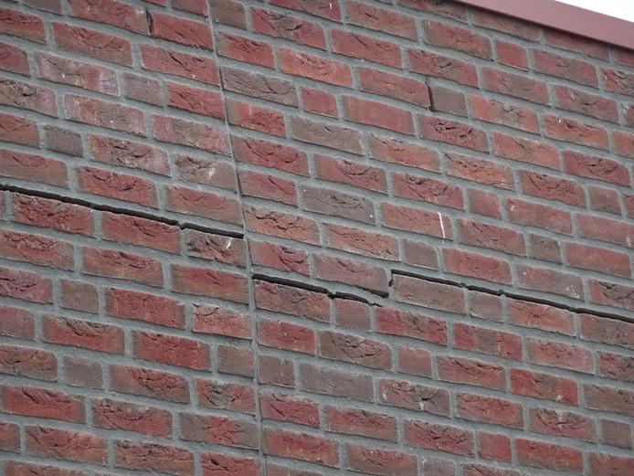 Schade aan een basisschool in Goirle.