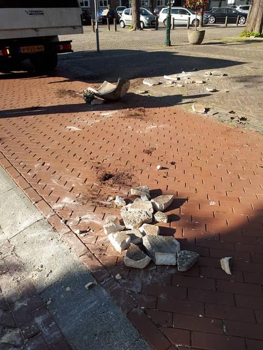 Vernielingen in het centrum van Oosterhout.