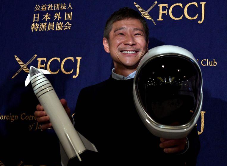 De Japanse miljardair Yusaku Maezawa zoekt een vriendin die met hem wil plaatsnemen in het ruimteschip van Elon Musk.