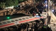 Video toont moment waarop sneltrein in Taiwan ontspoort