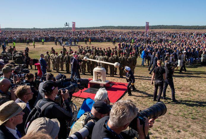 Zo druk zal het dit jaar niet worden bij de herdenking van de luchtlandingen op de Ginkelse Heide.