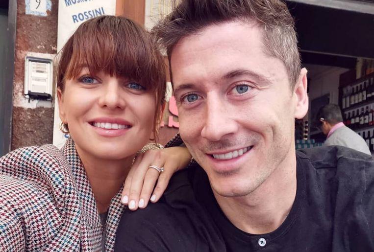 Anna Lewandowska en Robert Lewandowski.