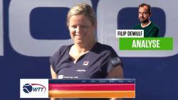 """Onze tennisexpert zag hoopgevende prestatie van Kim Clijsters: """"De basisslagen deden pijn aan de overkant"""""""