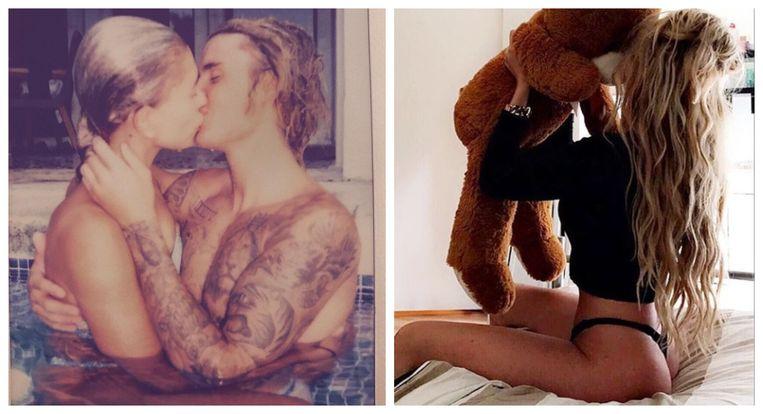 Justin Bieber en Erin, vriendin van Alex Maas
