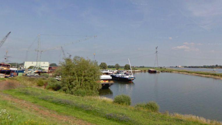 De haven aan de Waalbandijk bij Dodewaard. Beeld Google Streetview