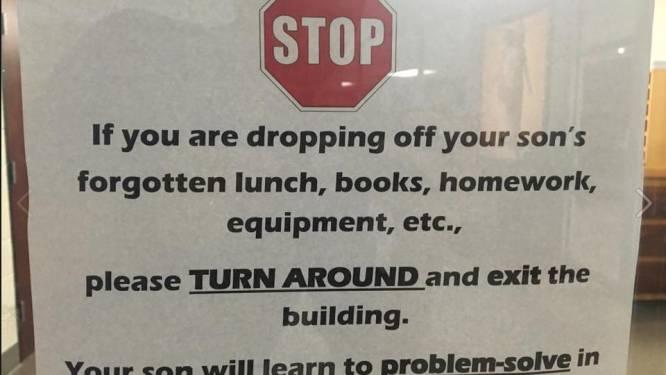 School bant bemoederende ouders met deze originele boodschap