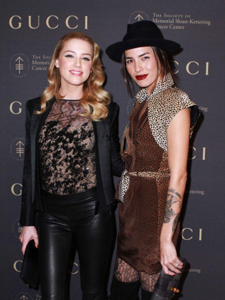 Amber Heard en Tasya Van Ree.