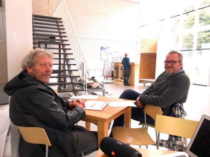 Hans van Helden en Remko Schotsman willen het tijdelijke cultuurhuis onmisbaar maken.