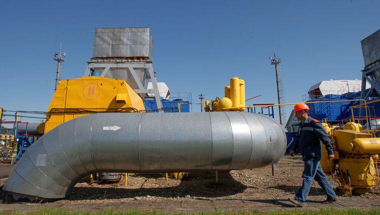 Gasopslag in West-Oekraïne. Beeld afp