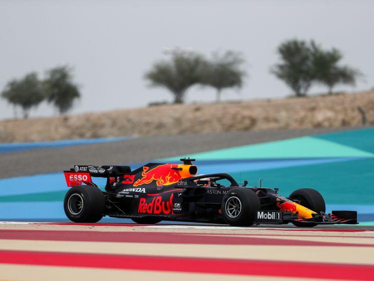 Zesde tijd voor spinnende Verstappen in eerste training Bahrein