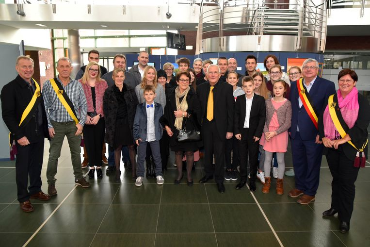 De jubilarissen en hun familie werden officieel ontvangen op het administratief centrum.