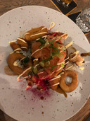 Okonomiyaki bij De Waardige Waard in Twello.
