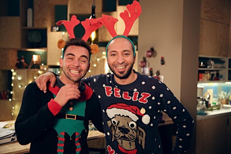 Mathias Vergels en Nawfel Bardad-Daidj deden mee in de kerstclip van 'Thuis'