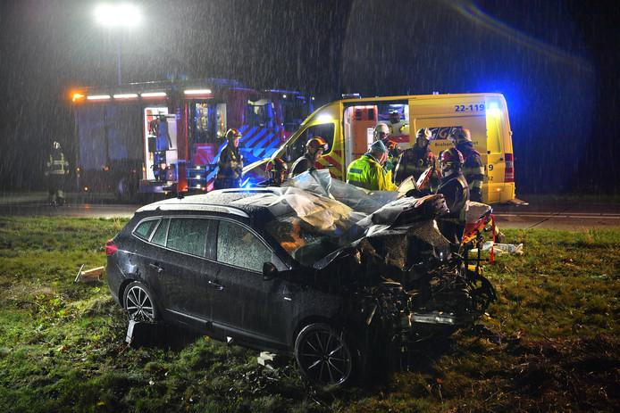 Volgens de officier van justitie is het een groot geluk dat een ongeluk diep in een novembernacht vorig jaar bij Riethoven, niet nog veel ernstiger gevolgen had dan een gebroken nek
