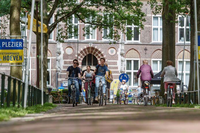 Start en finish van de Fietsvierdaagse is altijd centrum Bovendonk. Dit jaar zal het stil zijn. Wie gaat fietsen, vertrekt van thuis uit.