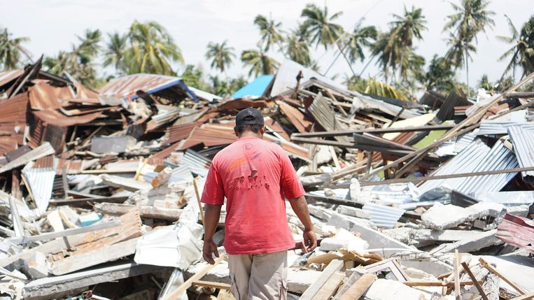 Op 28 september 2018 werd het Indonesische eiland Sulawesi zwaar getroffen door een aardbeving en tsunami. Inmiddels is driekwart van de door Giro555 opgehaalde 15,6 miljoen euro aan hulp besteed. Beeld Muhammad Aditya Setyawan