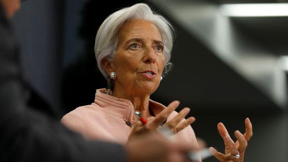 Voorzitter van het IMF, Christine Lagarde