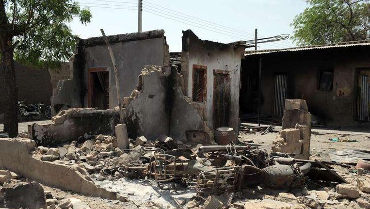 De ravage na eerdere aanslagen van de Boko Haram in Nigeria Beeld afp