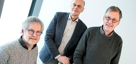 Huisartsen Peter Lucassen (Bakel), Cees Kros (Asten) en Pieter Leijte (Deurne): samen goed voor 106 jaar ervaring