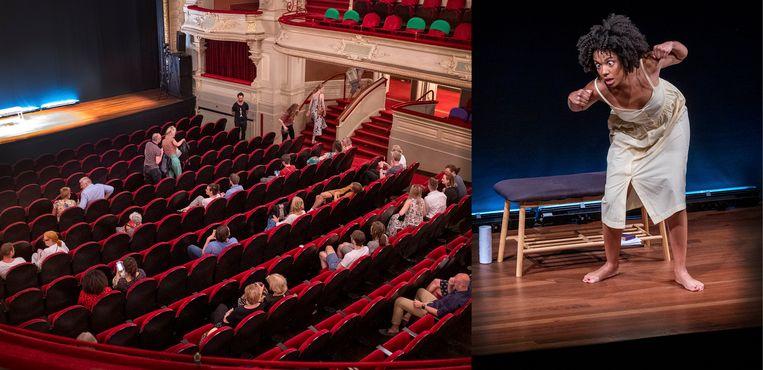 De 'Stamboom Monologen' met Joy Delima van Internationaal Theater Amsterdam is ondanks het beperkte aantal kaarten niet volledig uitverkocht. Beeld Patrick Post
