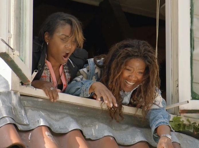 Edsilia schrok enorm toen Berget uit het raam viel.
