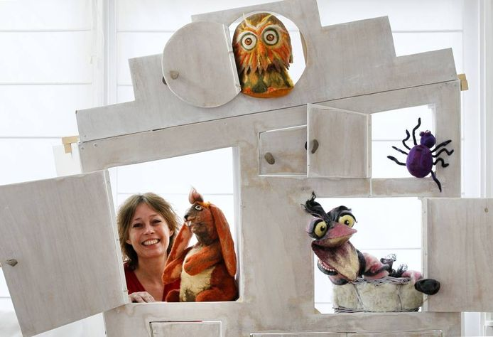 """Maureen Wegman: """"Ik heb gemerkt: dit poppenverteltheater is echt mijn ding."""" foto Cees Baars"""