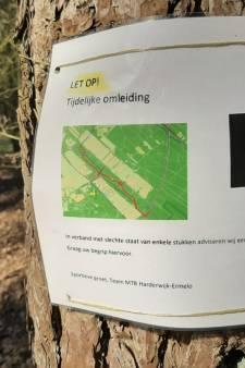 Nieuwe mtb-parcours Harderwijk deels dicht door dikke modder