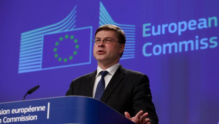 Europese Commissaris Valdis Dombrovskis. Beeld epa