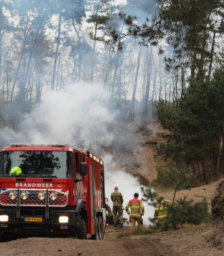 Brand op Edese heide door militaire oefening