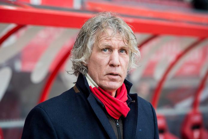 Gertjan Verbeek als trainer van FC Twente vorig seizoen.
