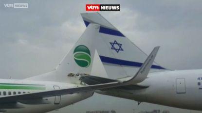 Bizar: vliegtuigen botsen bij vertrek