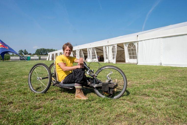 Organisator Marc Herremans is apetrots dat hij een officiële Europese triatlonwedstrijd naar zijn thuisdorp Wuustwezel kon halen.